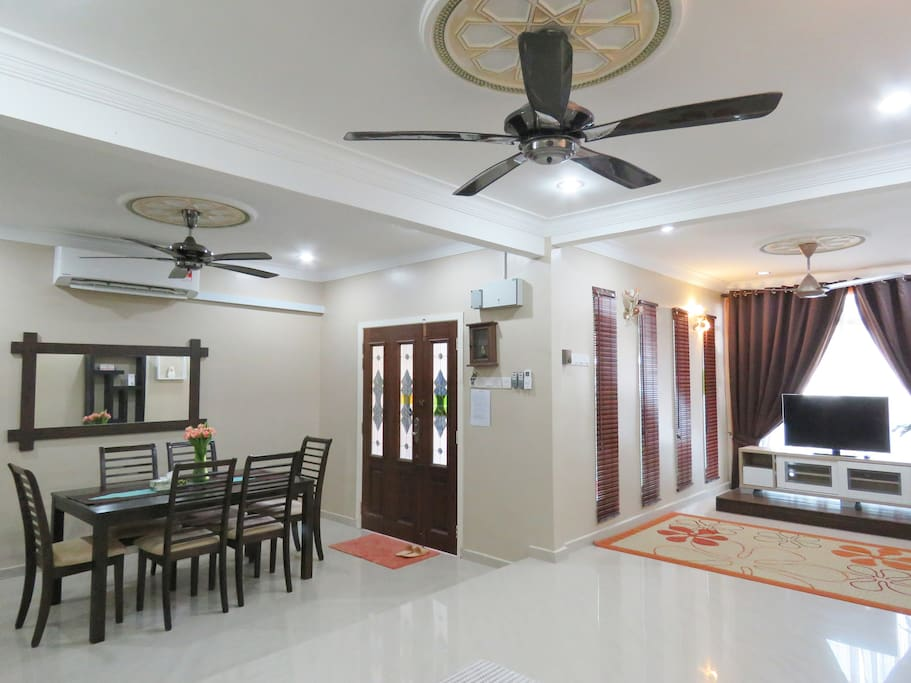 Downstairs air-conditioned living hall