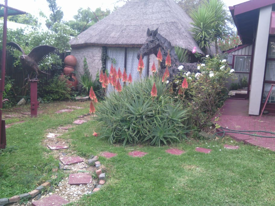Our garden with closed lapa..