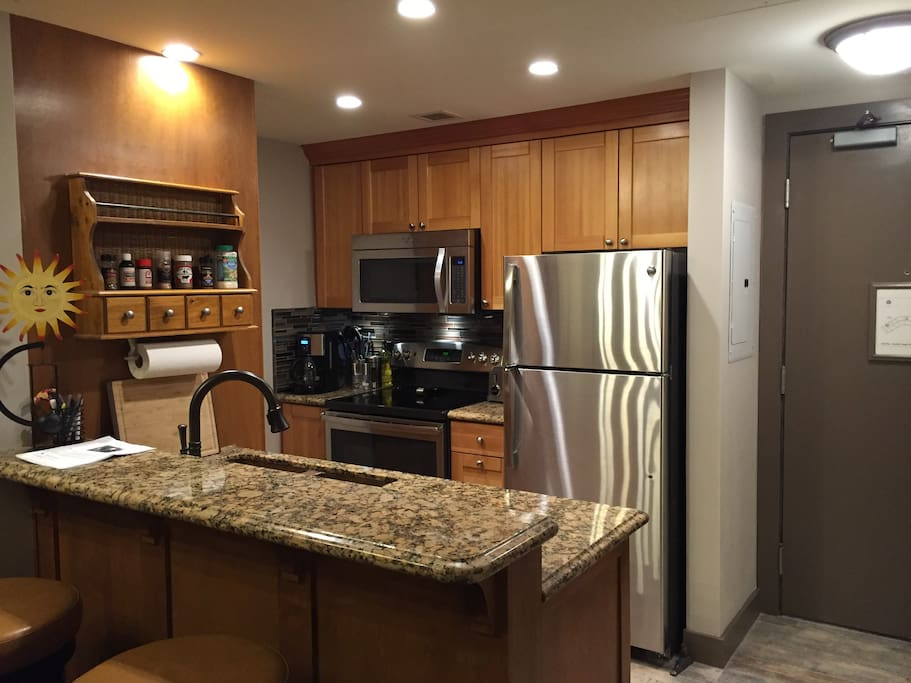 Hi-end everything...granite countertops, copper sink, stainless appliances