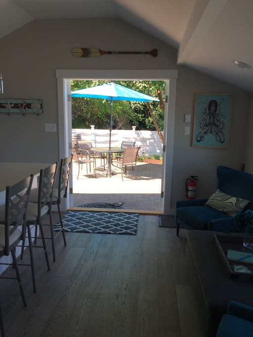 View onto the Patio from the inside.