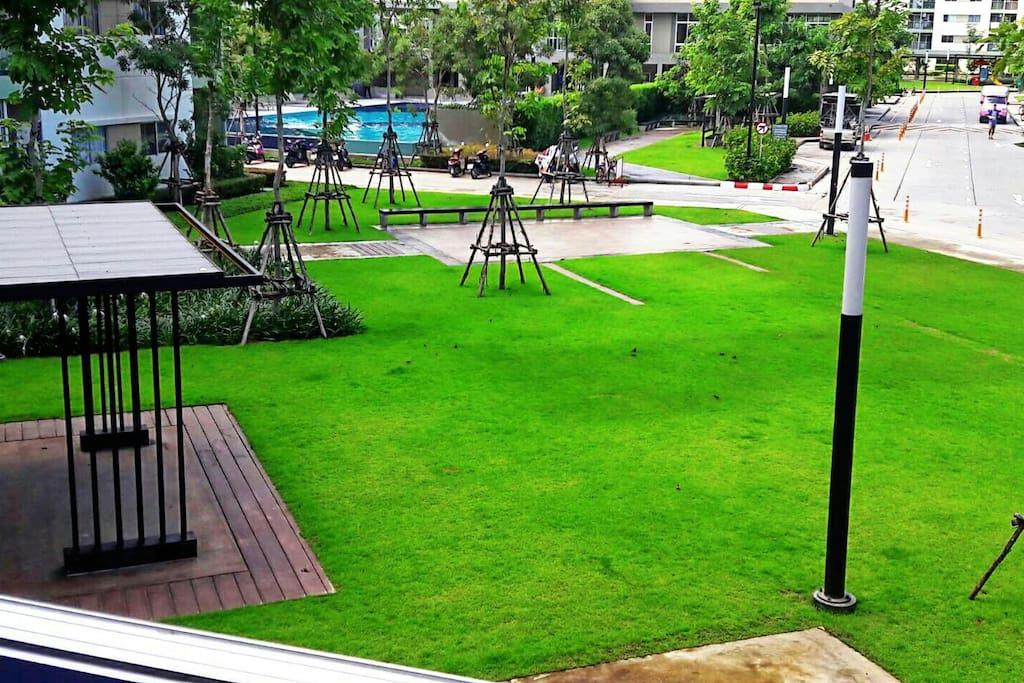 Nice view at the serviced room's balcony