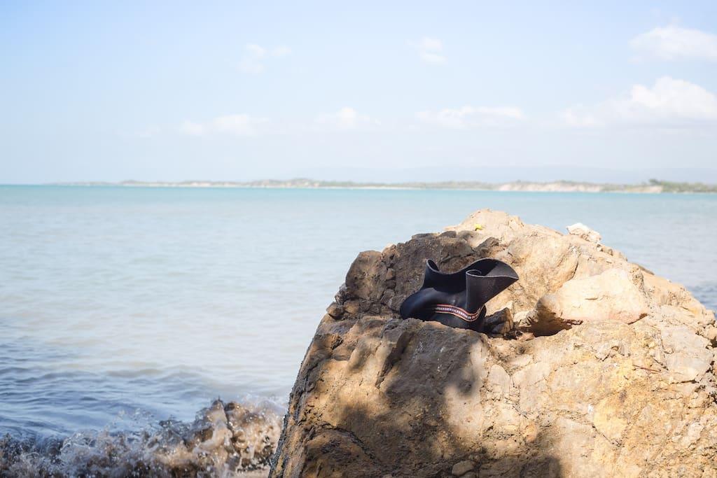 Take a dip at our private beach