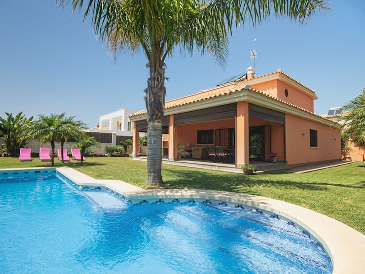 Holiday home with garden, pool and sea view - Villa Italia
