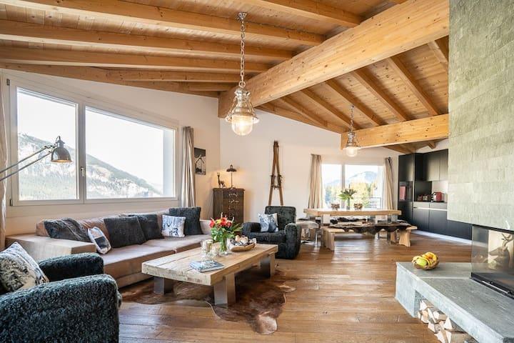 Edelweiss Ferienwohnung, Promenada Penthouse, (Flims Waldhaus), 6016, 4.5 Zimmerwohnung - 6016
