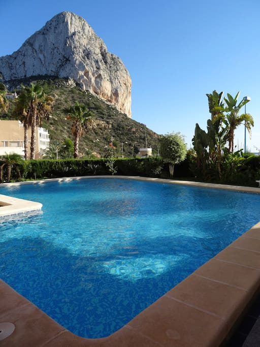 Swimming Pool looking out to the Penon de Ifach
