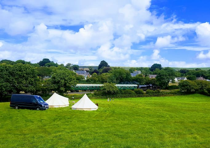 BELL TENT CAMPING. SWANAGE,DORSET.
