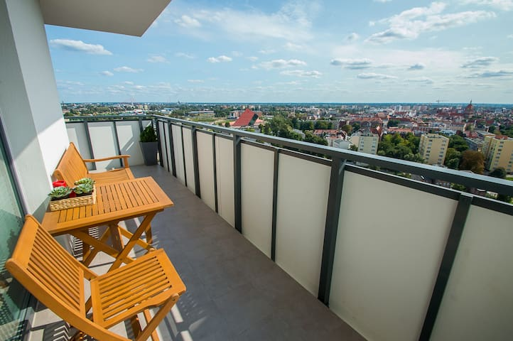 New apartment with panorama of the Old Town Gdańsk