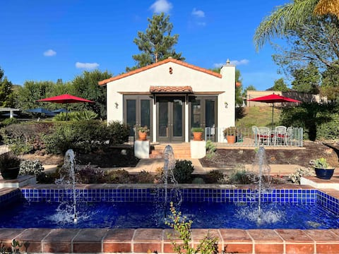 ⭐️Garden studio guesthouse, resort living with pool