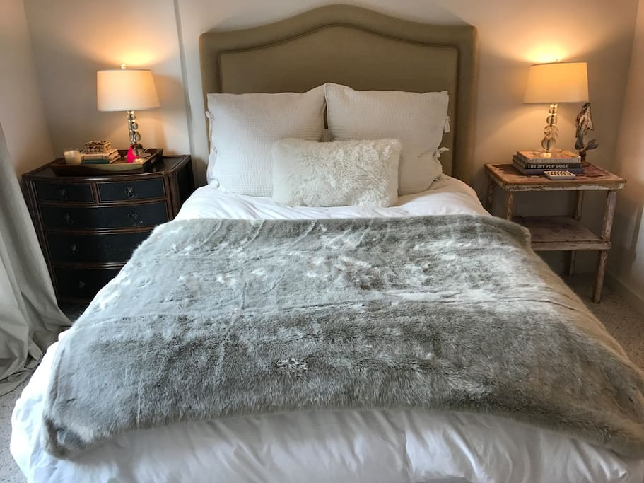 Queen Bed (Air Mattress Available upon request, too).