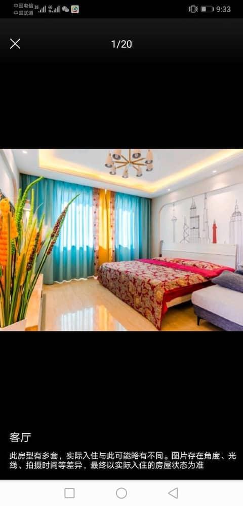 免费车位海上传奇海景公寓三室麻将房