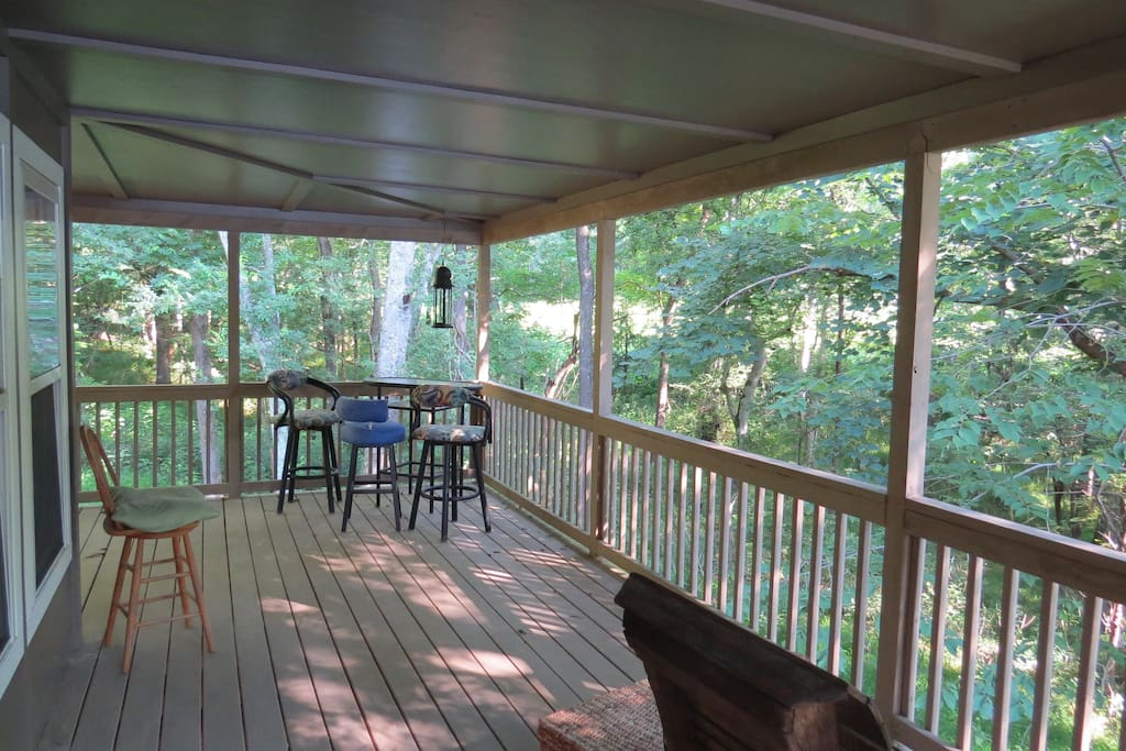 View from private porch