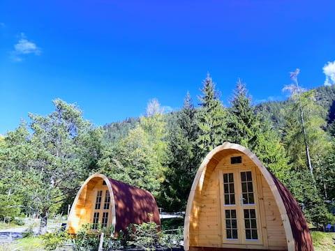 Sleeping pod at campsite Schwarzenau Achensee Nr3