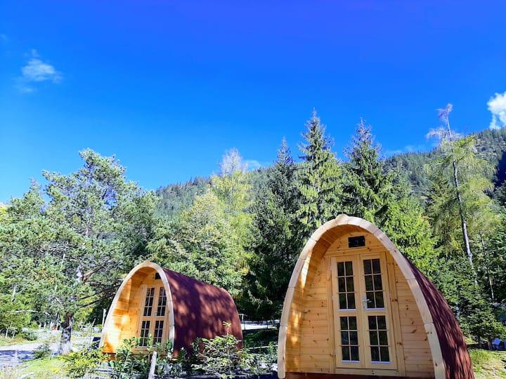 Schlafpod am Campingplatz Schwarzenau Achensee