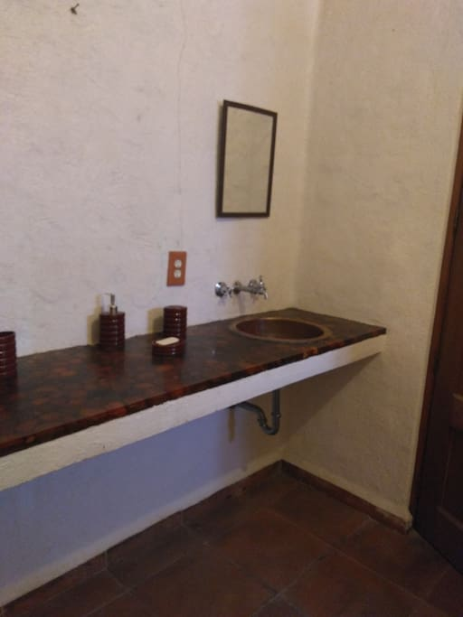 Plancha con dos lavabos