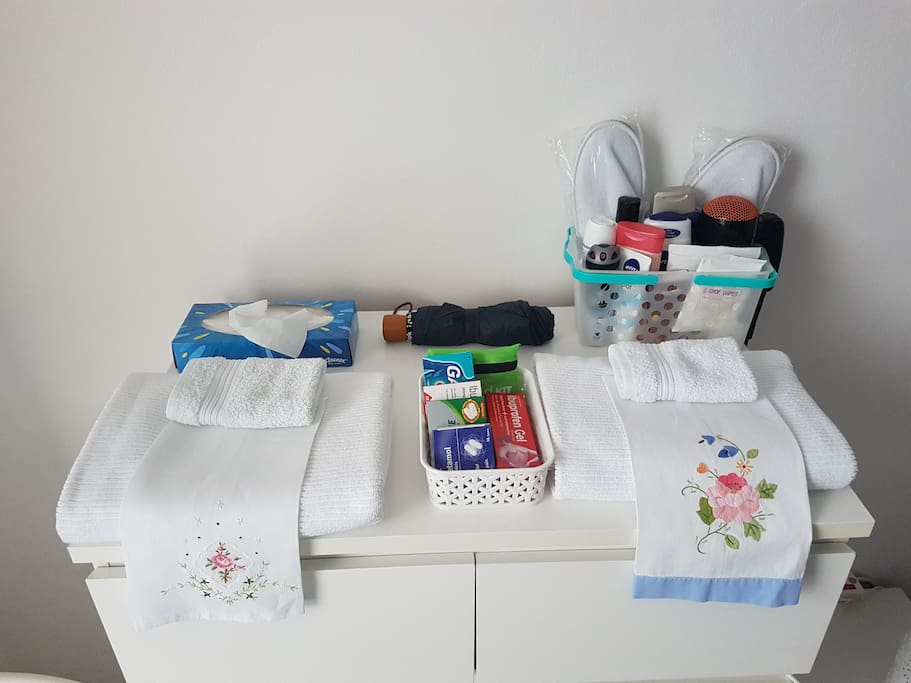 Towels, toiletries, flannels, slippers, dressing gowns - we try to think of everything.