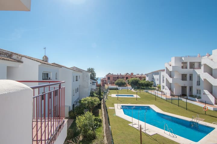 2144-Superb 2 bedrooms with terrace and pool
