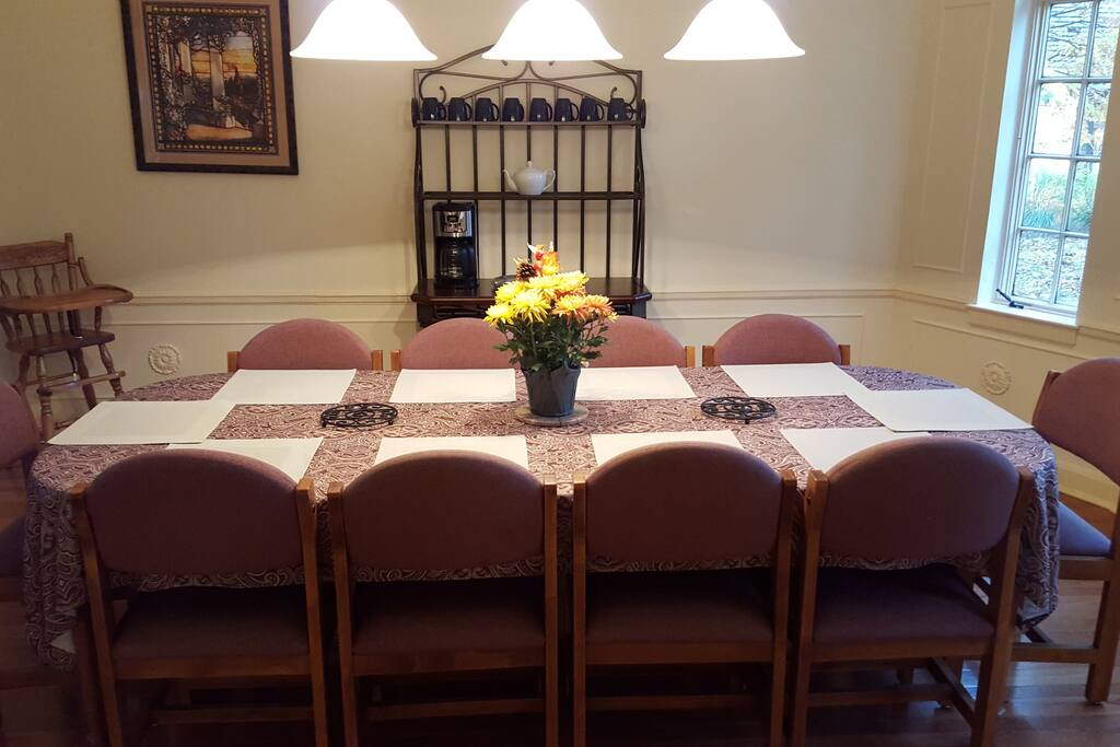Dining room entry from kitchen
