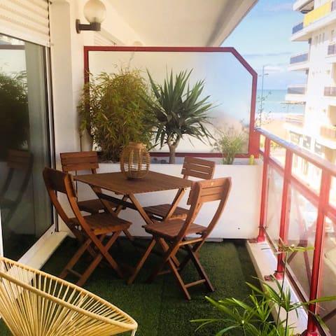 Appartement 50m de la plage de Pontaillac, vue mer