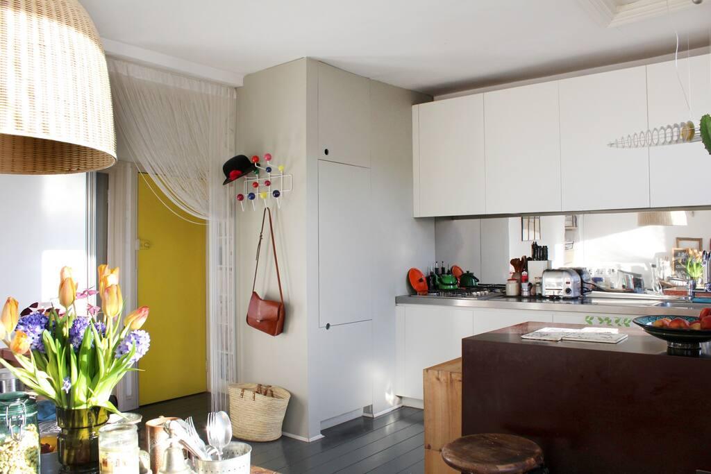 Kitchen area, open plan