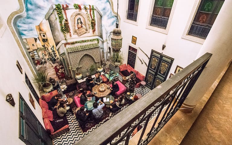 8 bed shared dorm in the Medina of Fes