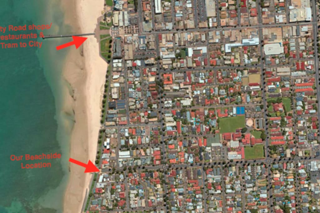 Aerial View of the Glenelg Foreshore
