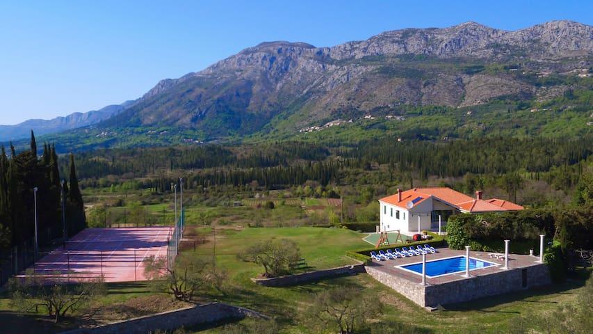 Villa Milicic-pool,tennis&football,gym,sauna,vine - Zastolje - Villa