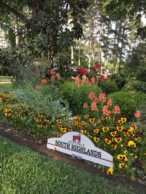 Historic South Highlands. Walk to restaurants, banks, shopping area and a world class free museum.  Drive 10 minutes to LSU Medical Center or downtown Shreveport/ Bossier City.