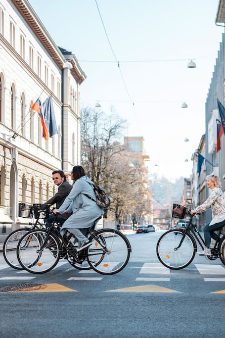 Starting from Presernova street