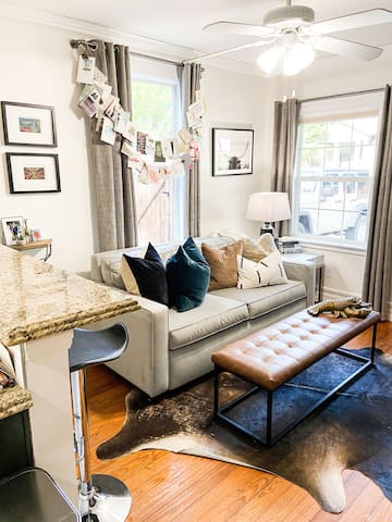 Bright and clean living room with lots of natural light!