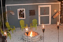 Enjoy a beverage by the fire pit, we often do!