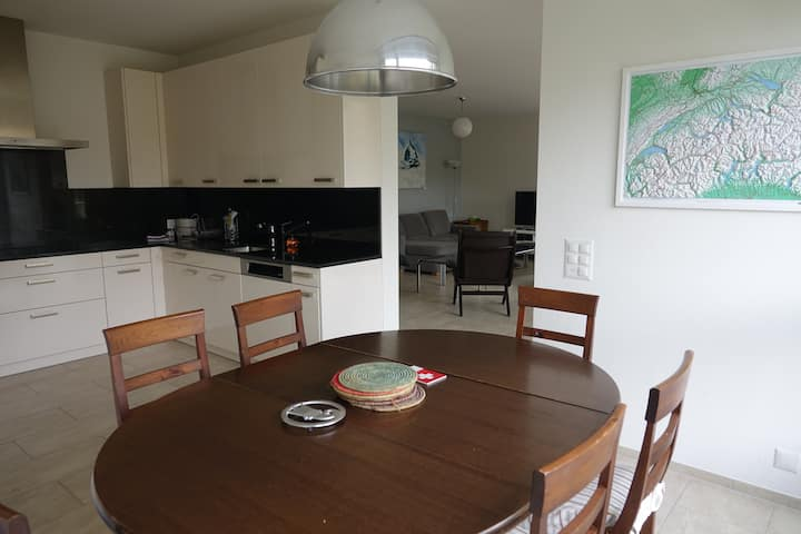 Modern, very spacious, central but quiet apartment