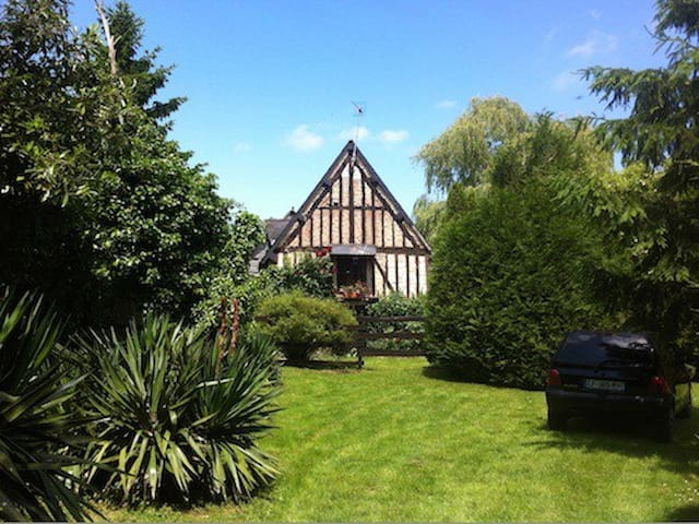 Splendid half-timbered in Normandy - Dame-Marie - Casa