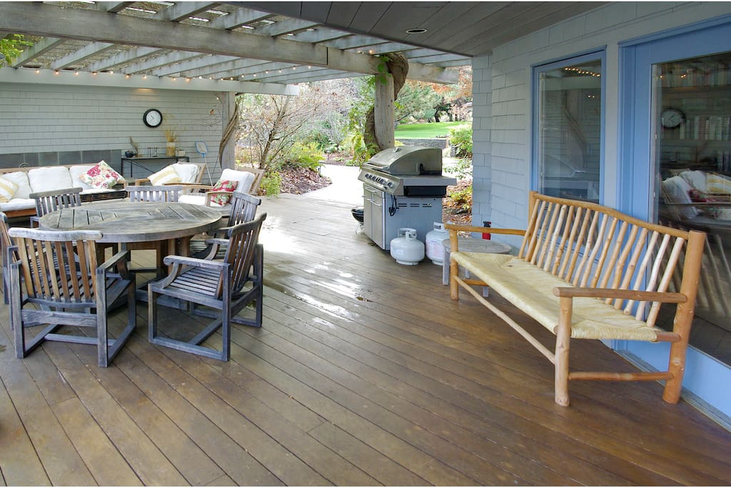 Gas BBQ and outdoor dining