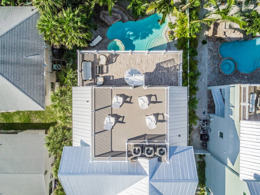 Aerial View of the Home