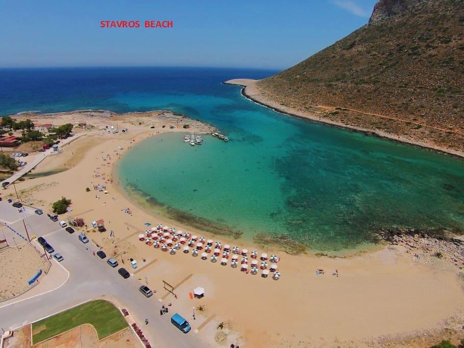 Παραλία ΣΤΑΥΡΟΣ , απόσταση  7 km