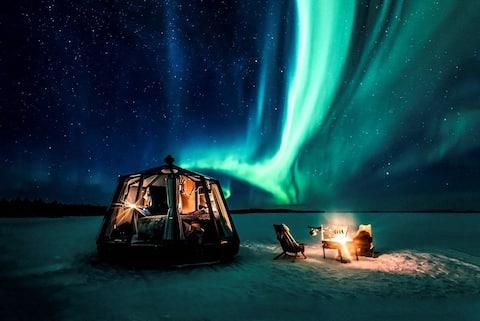 Aurora Hut Iglu luksusmajoitus tunturissa Nuorgam