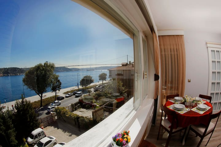 fantastic bosphorus and bridge view 2+1 apartment