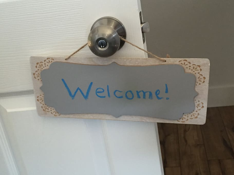 It'll be our pleasure to welcome you into our home!