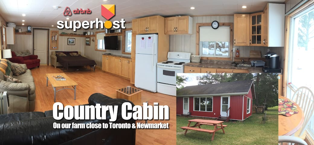 Country Cabin on Farm Near Newmarket Toronto - Schomberg - Houten huisje