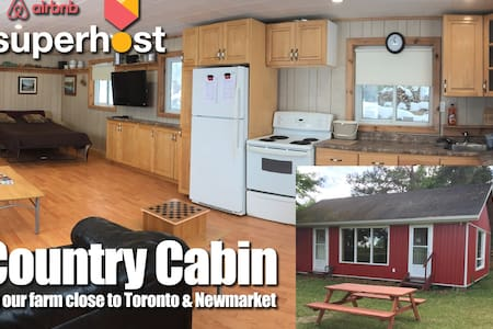 Country Cabin on Farm Near Newmarket Toronto - Schomberg - Muu
