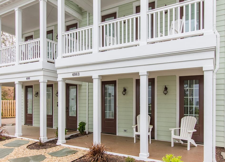 Two Bedroom Cottage Exterior Front Porch