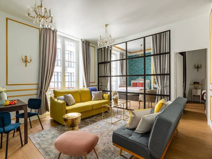 Luxury Apartment Louvre with Anti-Covid Cleaning