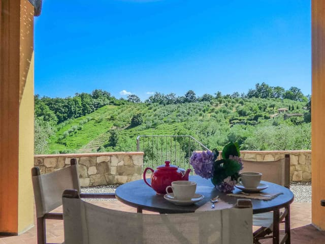 Ema-Huge private terrace, pool, view, Wifi, Lucca
