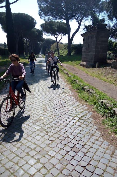 De bike pela Roma antiga e zona rural