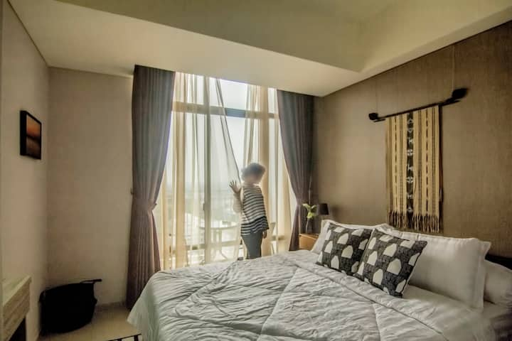 Simple 1 BR apartment at the center of Bintaro