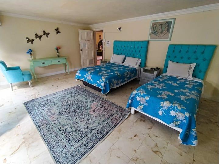 Confortable y tranquila habitación para pareja