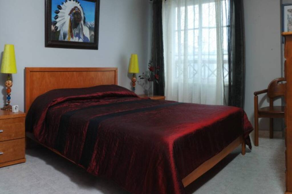 spacious sleeping room.