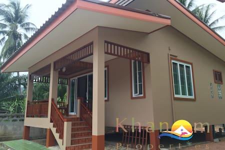 Brand new house only 2km from Khanom beach - Khanom - Hus