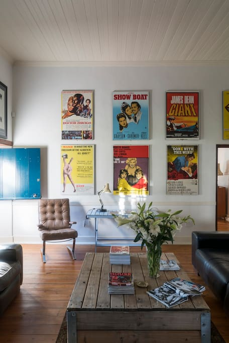 Living room with collectable art work