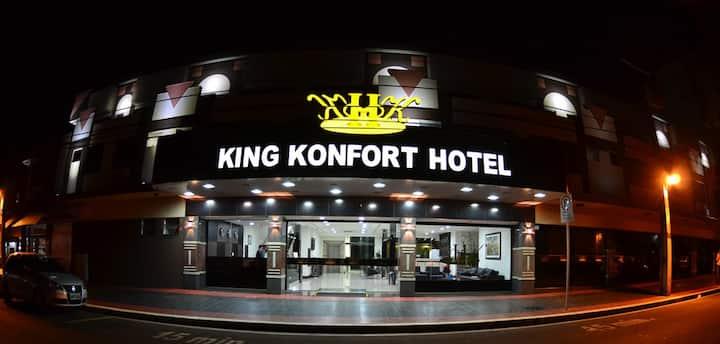 Apartamento duplo casal King Konfort Hotel